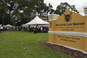 A community party hosted by the Bulluck Law Group