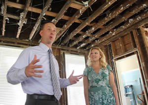 David Bulluck and wife Kristi talk about the restoration project.