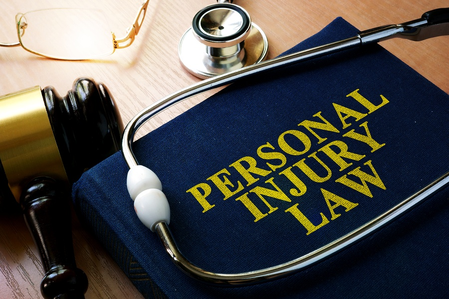 "Stethoscope on Book ""Titled Personal Injury Law"""